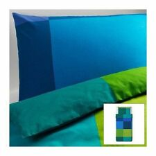 Ikea TWIN Quilt Cover set BRUNKRISSLA Duvet cover and pillowcase Blue Green