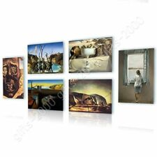 CANVAS (Rolled) War Woman Melting Clock Telephone Face Salvador Dali Set Of 6