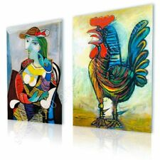 CANVAS (Rolled) Marie Therese Rooster Pablo Picasso Set Of 2 Oil Painting Print