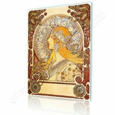 CANVAS (Rolled) Zodiac Alphonse Mucha Oil Paints Painting Canvas For Bedroom