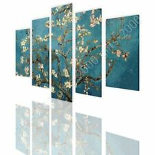 CANVAS (Rolled) Almond Blossom Vincent Van Gogh 5 Panels Wall Art Pictures