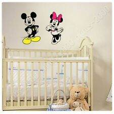 STICKER Decals Vinyl Mickey Mouse And Minnie Mouse Alonline DSN For Bedroom Art