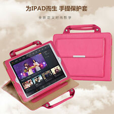 Fashion Carrying Handbag Leather Stand Case Cover for iPad 2/3/4/5/Air2 Pro Mini