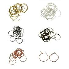 20pcs Gold Silver Plated Large Hoop Dangle Earrings Jewelry Making Findings