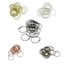 20pcs Silver Gold Plated Earring Beading Hoops 30mm Add a Bead Earring Findings