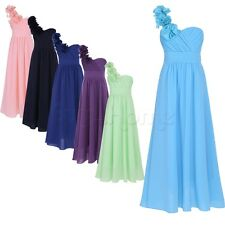Girls Chiffon Dress Flower Princess Sleeveless Formal Party Wedding Bridesmaid