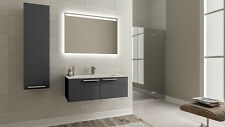 Bagnotti Aries 80-100 bathroom wall mounted wood vanity unit solid surface sink