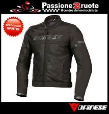 Jacket Dainese Air-Frame Tex black moto perforated estiva with lining interior
