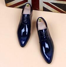 Mens Fashion pointy toe dress formal patent leather wedding shoes elevator New Y