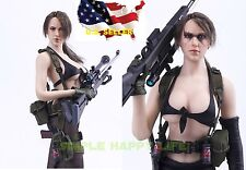 1/6 Metal Gear Solid Quiet set w/ phicen body Sniper sexy military very hot toy