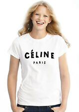 Celine Paris Women Fitted White - Black -Maroon Party Casual Holiday Top T Shirt
