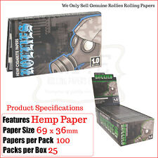 Rollies Hemp Single Wide Rolling Papers 100 Papers Per Pack - 3/6 & Full Box
