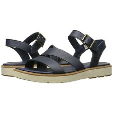 Womens Timberland Sandals Bailey Park Assymetrical Navy Leather Shoes NEW