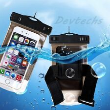 Waterproof Underwater Pouch Dry Wrist Bag Case Cover for iPhone Samsung Black