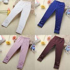 Toddler Kid Girl Casual Tight Butterfly Long Pants Stretchy Leggings Trousers