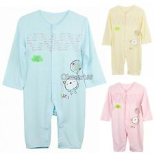 Baby Infant Romper Sleep Jumpsuit Clothing Long Sleeve Coverall 3-12 Month OK01