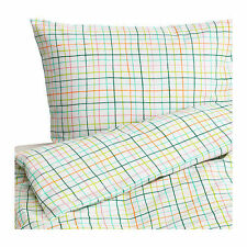 Ikea Sommar 2015 Quilt Cover Set, white/multi check - King / Double / Single