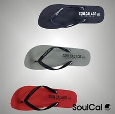 Mens Branded SoulCal Summer Silicone Toe Post Maui Flip Flops Footwear Size 7-12