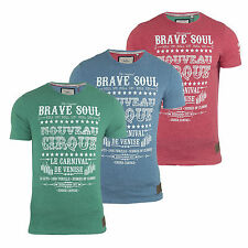 Mens T Shirt Brave Soul 'Cirque' Crew Neck Short Sleeve Printed Casual Top S-XL