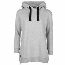 WOMENS LADIES GREY MARL GOLDDIGGA OVERSIZED JERSEY HOODY HOODIE SWEATSHIRT