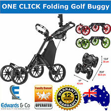 4 Wheels Folding Golf Buggy Cart Black Removable Seat CaddyTek CaddyCruiser v3