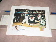 HANK AARON signed auto 16X20 cooperstown  PHOTO #rd 1561 / 2500 psa/dna guarente