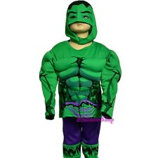 Muscle Superhero Incredible Hulk Avenger Fancy Costume Outfit Halloween 3T-7 033