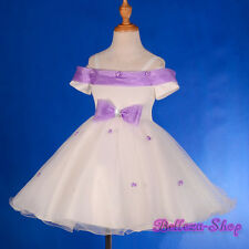 Shimmer Tulle Dress Occasion Birthday Wedding Flower Girl Pageant 2T-9 FG277A