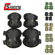 Tactical X Shape Knee & Elbow Protective Pads Set Cushion Military Airsoft Army