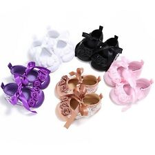 Baby Girl Casual Soft Sole Crib Shoes Infant Newborn Bowknot Ribbon Cotton Shoes