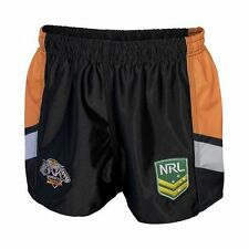 Wests Tigers 2017 NRL Kids Supporter Shorts BNWT Rugby League Footy Clothing