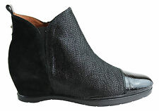 NEW HISPANITAS ADDA WOMENS LEATHER WEDGE BOOTS MADE IN SPAIN