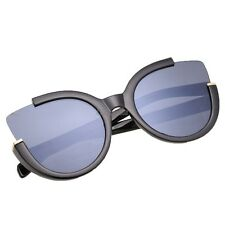 Fashion Women Black Half Plastic Frame Sunglasses OK02