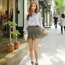 New Lady Women's Sweet Fashion Above Knee Short Culottes Elastic Pleated LM01