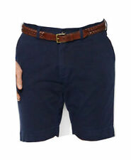 """POLO RALPH LAUREN men Classic Fit 9"""" HUDSON CHINO SHORTS Flat-Front NAVY size 40"""
