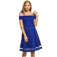 New Women Sexy Slash Neck Solid Pleated Off Shoulder Dress LM03