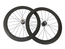 50+60mm Clincher Carbon Wheels Road Bicycle Road Bike Track Fixed Gear Wheelset