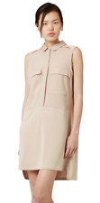 New ex Topshop Summer Pocket Utility Shirt Dress in Natural RRP £38 Sizes 6-14