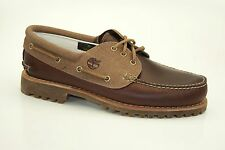 Timberland Authentics Classic 3-Eye Lug Boat Shoes Lace up Moccasins A15CW