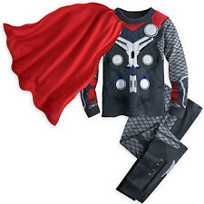 NWT Disney Store Cape Thor Costume PJ Pal Marvel's Avengers Age of Ultron Boys