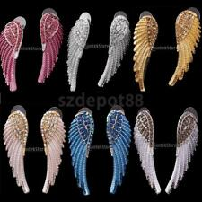 Fashion Women Shiny Crystal Rhinestone Angel Wing Drop Dangle Earrings Ear Studs