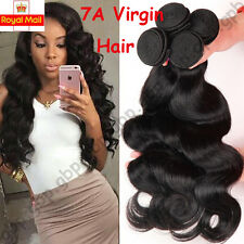 Brazilian Real Virgin Remy Human Hair Extensions Wefts 7A Grade Weave UK A224