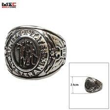 Men's Titanium Steel Band United States US Army Military Biker Ring US Size 8-14