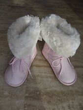 NEW CARTER'S GIRLS PINK MICROSUEDE FAUX FUR BOOTS SPARKLY SIZE 9, 10, 1 MSRP $44