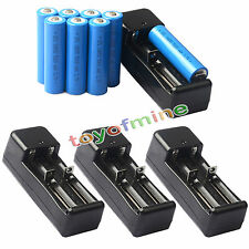 8x 3.7V 18650 GTL Li-ion 5000mAh Rechargeable Battery For Flashlight +4x Charger