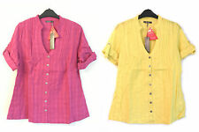 Ladies South 100% Cotton Casual Shirt/Blouse in Yellow or Dark Pink
