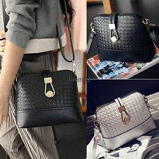 Fashion Korean Women Synthetic Leather Shoulder Small Bag Tote Weave LM01
