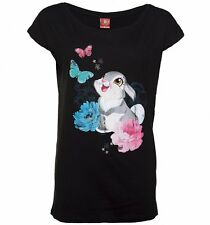 Official Women's Black Disney Bambi Thumper Slouchy T-Shirt