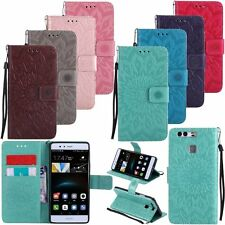 Flip Leather Wallet Stand Card w/Strap Case Cover For Huawei Ascend P7 P8 P9 P10