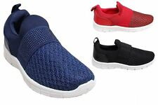 New Womens Active Flat Diamante Comfortable Stretch Casual Sport Trainers Shoes